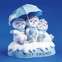 Personalized Snowbuddies 3 Best Friends Figurine