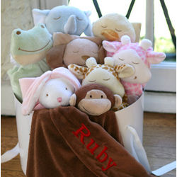 Personalized Animal Napping Blanket