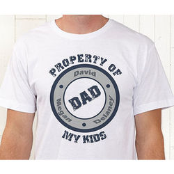 Property of My Kids Personalized T-Shirt