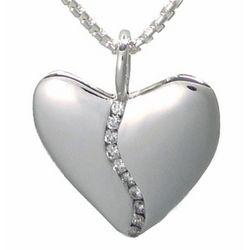 10 Diamond Silver Harmony Heart Necklace in a Tin Anniversary Box