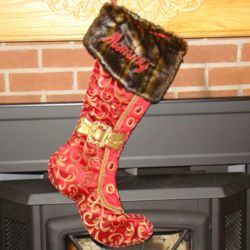 Victorian Queen of the Castle Personalized Christmas Stocking
