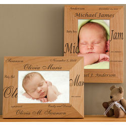 Personalized New Arrival Picture Frame