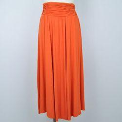 Gathered Waist Hippie Maxi Skirt