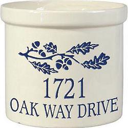 Personalized Oak Leaf Crock