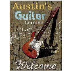 Personalized Unframed Guitar Lounge Canvas