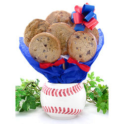 Baseball Planter Cookie Gift Basket