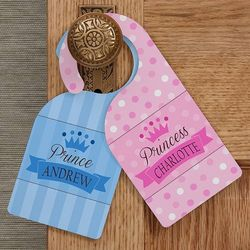 Jr. Royalty Personalized Door Knob Hangers