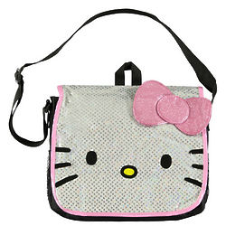 Hello Kitty Sequin Life Messenger Bag