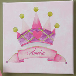 Reigning Royalty Personalized Princess Canvas