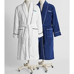Men's Monogrammed Turkish Cotton Robe