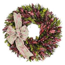 Preserved Myrtle Holiday Message Wreath