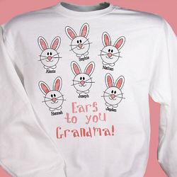 Ears to You Personalized Easter Bunny Sweatshirt