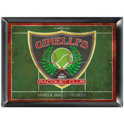Racquet Club Personalized Pub Sign