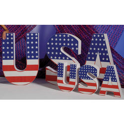 USA Flag and Letters Party Decoration