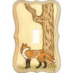 Fox Looking Back Switchplate