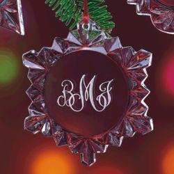 Lead Crystal Snowflake Christmas Ornament