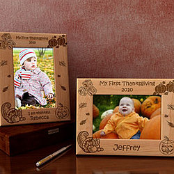 Personalized My First Thanksgiving Wooden Picture Frame