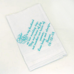 Personalized 'To My Husband' Wedding Day Handkerchief