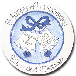 Love Bells Personalized Anniversary Plate