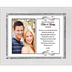 Engagement Picture Frame with Poetry