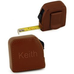 Personalized Square Leather Tape Measure
