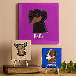 Personalized Dog Breed Canvas Print