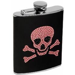 Fierce Lady Skull Hip Flask
