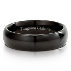 Dome Design Black Tungsten Carbide Band
