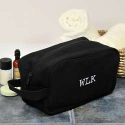 Personalized Canvas Shaving Kit Bag