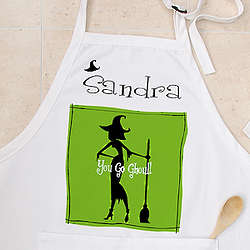 Personalized Witch with Attitude Halloween Apron