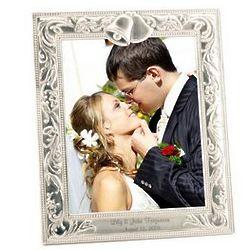 Silver Wedding Bells 8x10 Photo Frame