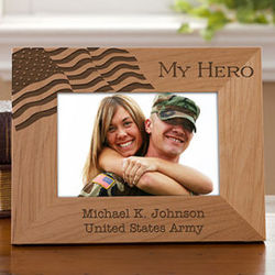 Military Hero Personalized 4x6 Picture Frame