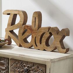 Relax Wooden Shelf Sign