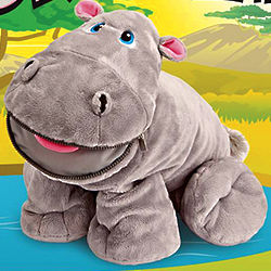 Gracie the Hippo with Secret Hidden Pockets