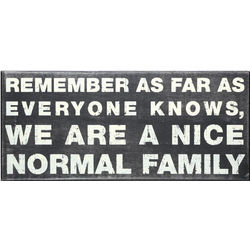 Nice Normal Family Box Sign