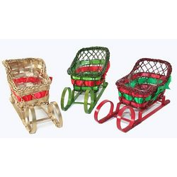 Holiday Sleigh Basket