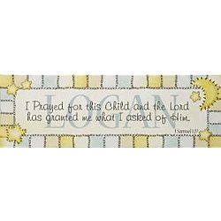 Baby Boy Personalized I Prayed for this Child Canvas