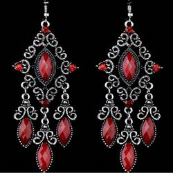 Chic Jewel and Stone Chandelier Earring