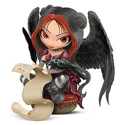 Once Upon A Midnight Dreary Gothic Fairy Figurine