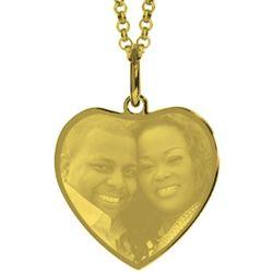 Gold Plated Custom Photo Heart Pendant