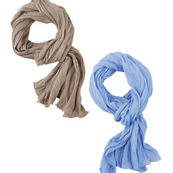 Linen Blend Scarf with Built-In Insect Repellant