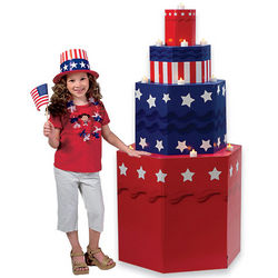 USA Cake Party Decoration