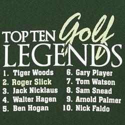 Personalized Top Ten Golf Legends T-Shirt