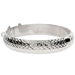Engravable Diamond Cut Sterling Silver Bracelet