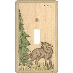 Wolf Looking Back Switchplate