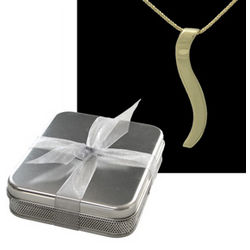 18k Yellow Connection Necklace in 10th Anniversary Gift Tin