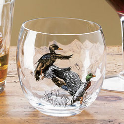 Waterfowl Roly Poly Glasses