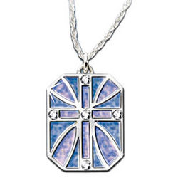 With You Always Diamond and Mother of Pearl Cross Pendant