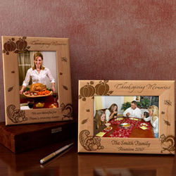 Personalized Thanksgiving Wooden Picture Frame