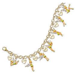 Disney Tinker Bell Heart Charm Bracelet